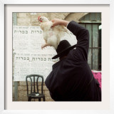 An Ultra Orthodox Man Swings a Live Chicken Over His Head