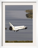 Space Shuttle Discovery Glides over the Banana River to a Landing on Kennedy Space Center&#39;s Runway