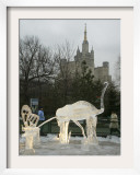 Ice Sculpture Exhibition at Moscow Zoo