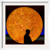 Visitor Passes a Replication of the Sun at the Gasometer in Oberhausen  Western Germany