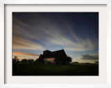 Rising Moon Illuminates Clouds in the Evening Sky over St Martin's in the Field