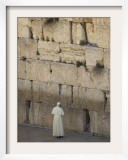 Pope Benedict XVI Stands Next to the Western Wall  Judaism's Holiest Site in Jerusalem's Old City
