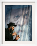 An Ultra-Orthodox Jewish Man Plays a Flute
