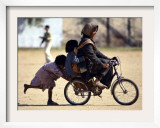Girls Play on a Bike in Jammu  India