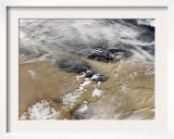 Dust Blows Off the Coast of Libya Heading over the Mediterranean Sea