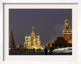 Walking Past a Huge Christmas Tree in Red Square in Moscow