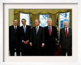 President-elect Barack Obama with All Living Presidents Smiling  January 7  2009