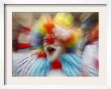 Clown Celebrates During a Colourful Historical Carnival Procession in Wasungen  Germany