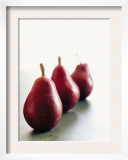 Traveling Pears in Red