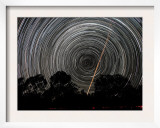 Southern Sky Star Trails and Aircraft Lights