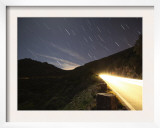 Star Trails over the Serra Da Arrbida Mountains in Portugal