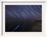 Star Trails in the Albufeira Lagoon  Portugal