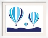 Blue Hot Air Balloon