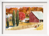 Farm with Red Barn