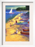 Beach with Boats and People