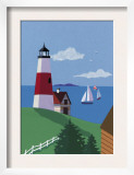 Lighthouse with Sailboats