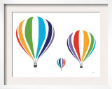 Rainbow Hot Air Balloons