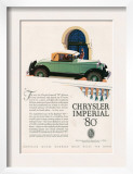 Chrysler Imperial  Magazine Advertisement  USA  1927