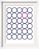 Navy Pink Circles