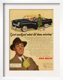 Aero Willys  Magazine Advertisement  UK  1954