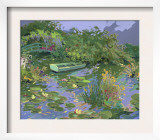 Pond with Boat and Lily Pads