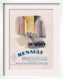 Renault  Magazine Advertisement  USA  1930