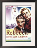 Rebecca  Laurence Olivier  Joan Fontaine on Belgian Poster Art  1940