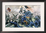 Gallant Charge of 54th Massachusetts Regiment at the Battle of Fort Wagner  South Carolina  1863