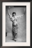 Belly Dancing  Woman in Belly-Dancing Costume Smoking and Holding Package of Cigarettes  1900