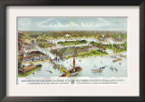 World's Columbian Exposition  Chicago: Grand Birds-Eye View of the Grounds and Buildings  1892