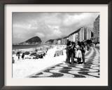 Mosaic Sidewalk  Rio De Janeiro  Brazil  1941