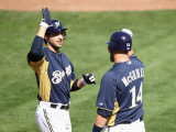 Oakland Athletics v Milwaukee Brewers  PHOENIX  AZ - MARCH 03: Ryan Braun and Casey McGehee