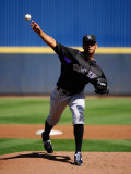 Colorado Rockies v Milwaukee Brewers  PHOENIX  AZ - MARCH 10: Esmil Rogers