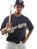 Milwaukee Brewers Photo Day  MARYVALE  AZ - FEBRUARY 24: Carlos Gomez