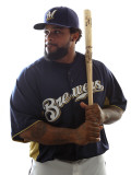 Milwaukee Brewers Photo Day  MARYVALE  AZ - FEBRUARY 24: Prince Fielder