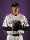 Colorado Rockies Photo Day  SCOTTSDALE  AZ - FEBRUARY 24: Jorge De la Rosa