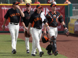 Chicago Cubs v San Francisco Giants  SCOTTSDALE  AZ - MARCH 01: Tim Lincecum and Buster Posey