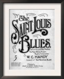 Saint Louis Blues  Composed by WC Handy  Sheet Music  1914