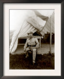 Theodore Roosevelt  Seated at Entrance to Tent Ca 1898