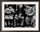Winston Churchill  Franklin D Roosevelt and Josef Stalin  Yalta Conference  February 1945