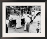New York City  Vendor with Wares Displayed  Little Italy  1900s