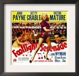 Footlight Serenade  John Payne  Betty Grable  Victor Mature on Window Card  1942