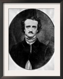 American Poet and Author Edgar Allan Poe Photographed by Mathew B Brady  1840s