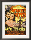 Swanee River  Don Ameche  Andrea Leeds  Al Jolson on Midget Window Card  1939