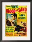 Blood and Sand  Linda Darnell  Tyrone Power on Midget Window Card  1941