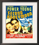 Second Honeymoon  Loretta Young  Tyrone Power  Loretta Young  Tyrone Power on Window Card  1937