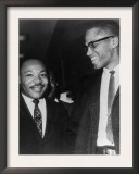 Martin Luther King Jr  and Malcolm X  1964