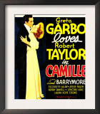 Camille  Robert Taylor  Greta Garbo on Window Card  1936