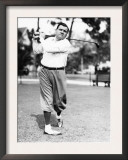 New York Yankees Yankees Outfielder Babe Ruth Playing Golf  Early 1930s