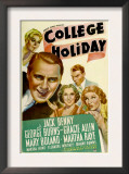College Holiday  Mary Boland  Jack Benny  Gracie Allen  George Burns  Martha Raye  1936